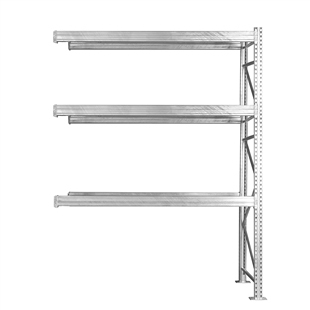 "3-Tier Add-On Galvanized Pallet Rack - 48""d x 144""h"
