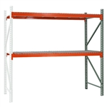 "2-Tier Pallet Rack Add-On Units - 36""d x 96""h"