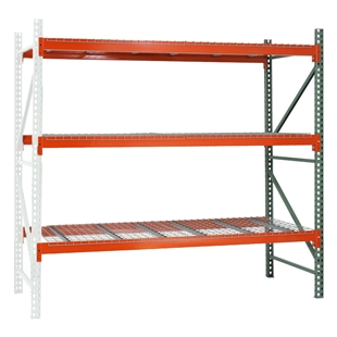"3-Tier Pallet Rack Add-On Units - 42""d x 192""h"