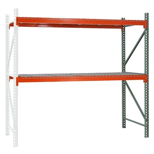"2-Tier Pallet Rack Add-On Units - 48""d x 96""h"