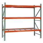 "3-Tier Pallet Rack Starter Units - HD - 42""d x 144""h"