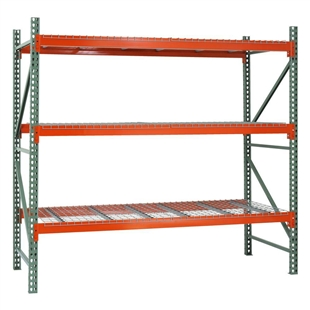 "3-Tier Pallet Rack Starter Units - SD - 48""d x 144""h"