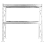 Teardrop Galvanized Pallet Rack Step Beams