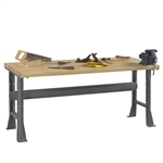 Workbench w/ Flared Legs & Hardwood Top