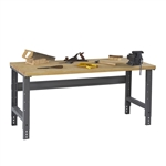 Workbench w/ Adjustable Legs & Hardwood Top