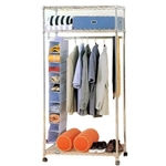 Wire Shelving Mobile Wardrobe Units