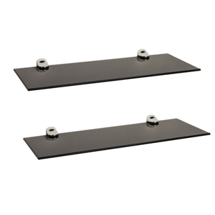 "2-Piece 16"" Glass Floating Shelves"