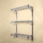"8"" Deep Wall Mounted Three Shelf Kits"