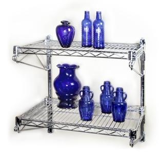 14 Quot D 2 Shelf Chrome Wire Wall Mounted Shelving Kit