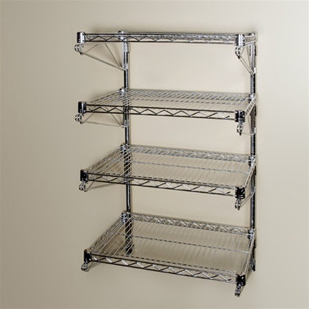 14 D Adjule Wall Mounted Wire Shelving