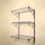 "18"" Deep Wall Mounted Three Shelf Kit"