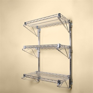 18 D Wall Mounted Wire Shelving W 3 Shelves