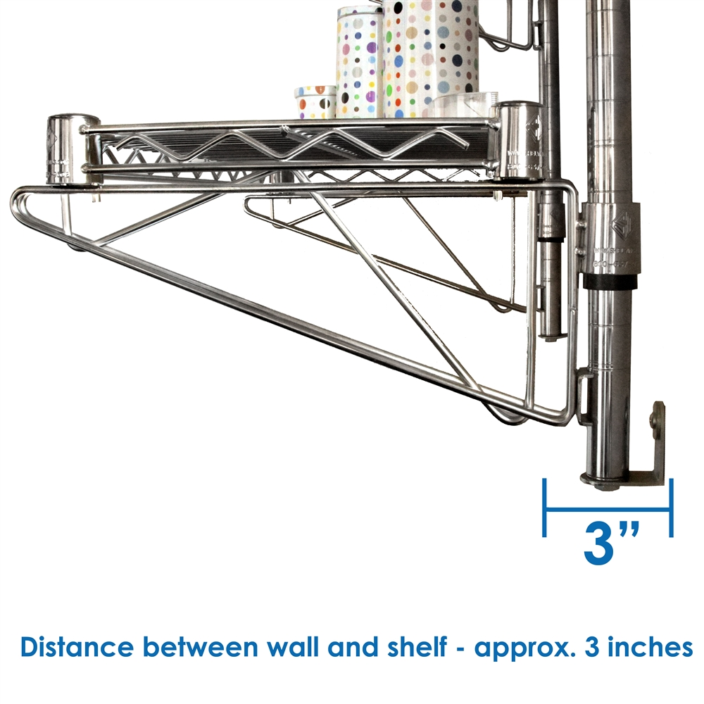 Wall Mounted Wire Shelving. 24\\ Wall Mounted Wire Shelving - Churl.co