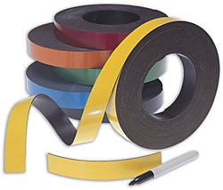 Colored Write-On Magnetic Roll - 50 Ft