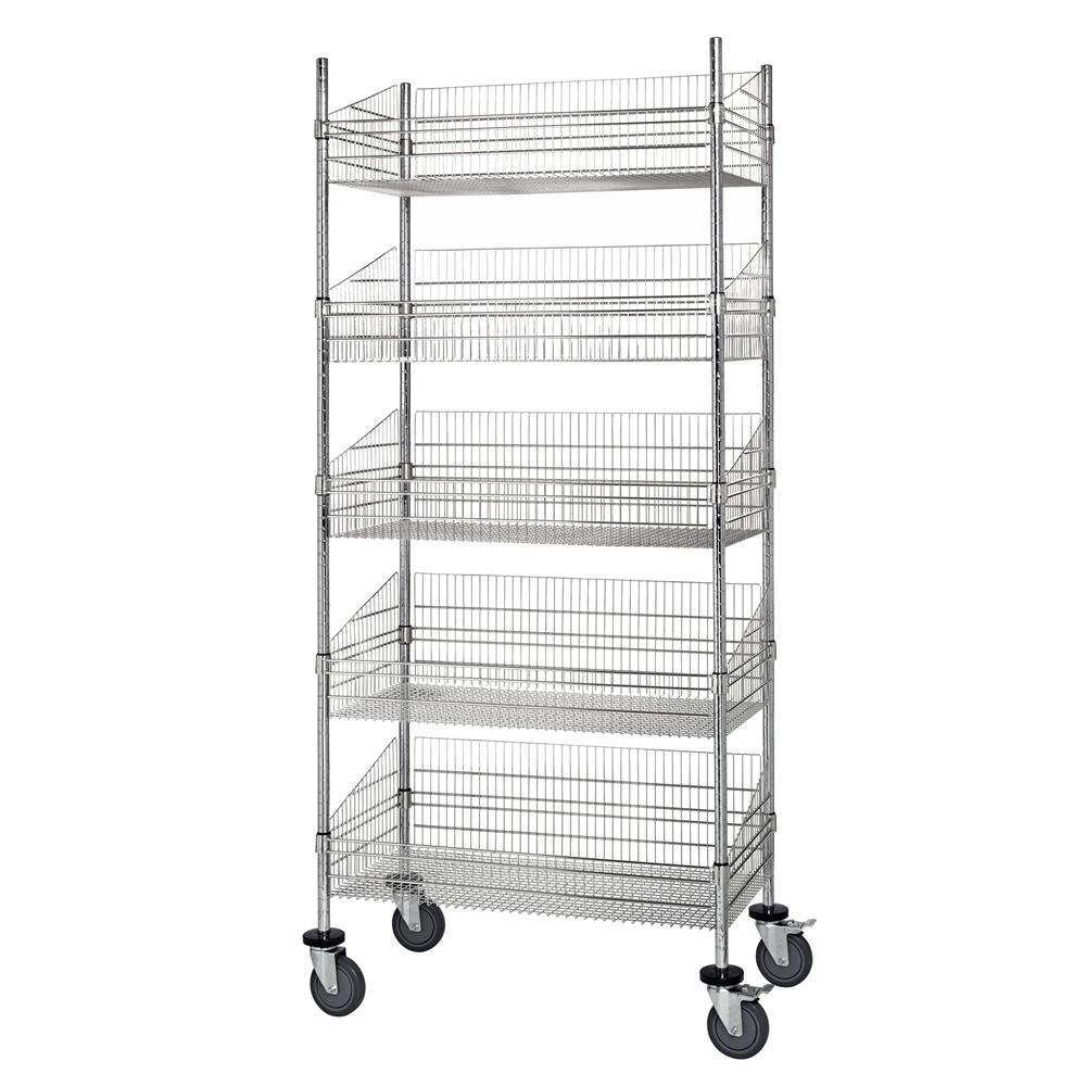 d Wire Basket Cart by Quantum | Shelving.Com