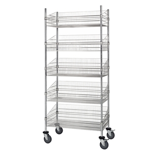 "18""d Wire Basket Cart"