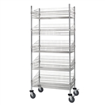 "24""d Wire Basket Cart"