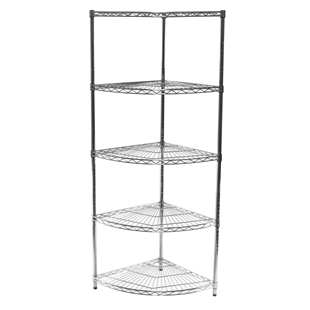"18""d Radius Corner Unit with 5 Shelves"