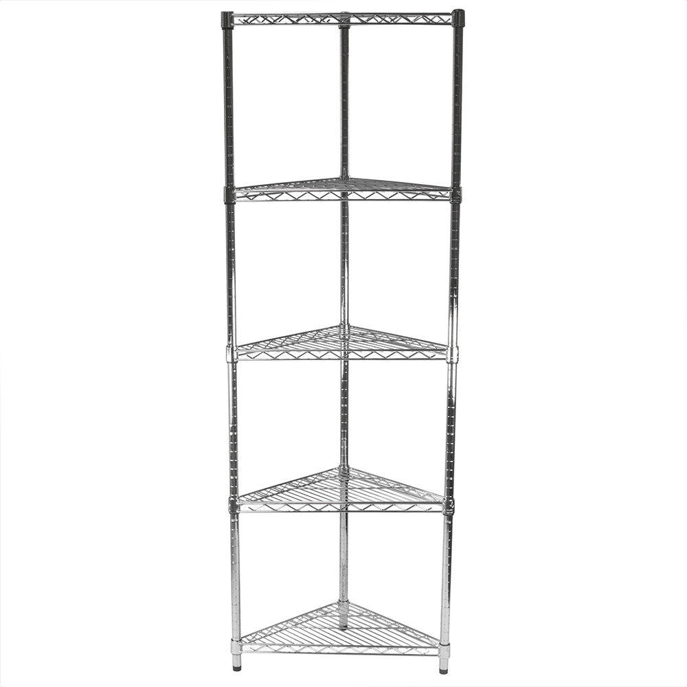 d Triangle Wire Shelf Corner Kit with 5 Shelves