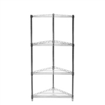 "24"" Triangle Corner Unit 84"" High w/4 Shelves"
