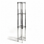 "8""d x 8""w Chrome Wire Shelving w/ 4 Shelves"