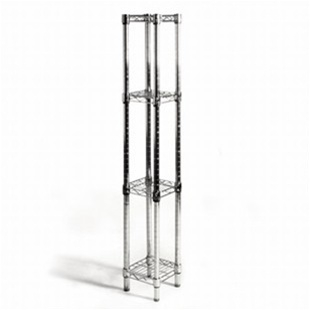 "8""d x 8""w Wire Shelving with 4 Shelves"