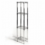 "8""d x 12""w Wire Shelving with 4 Shelves"