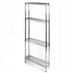 "8""d x 24""w Wire Shelving with 4 Shelves"