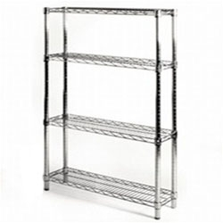 "8""d x 36""w Wire Shelving with 4 Shelves"