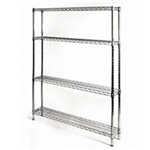 "8""d x 42""w Wire Shelving with 4 Shelves"