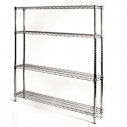 "8""d x 48""w Wire Shelving with 4 Shelves"