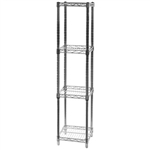 "12""d x 12""w Wire Shelving with 4 Shelves"