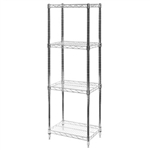 "12""d x 18""w Wire Shelving with 4 Shelves"