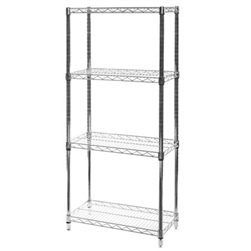 "12""d x 24""w Wire Shelving with 4 Shelves"