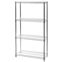 "12""d x 30""w Wire Shelving with 4 Shelves"