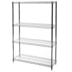 "12""d x 36""w Wire Shelving with 4 Shelves"