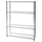 "12""d x 42""w Wire Shelving with 4 Shelves"