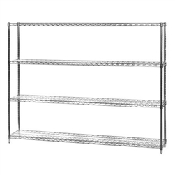 "12""d x 60""w Wire Shelving with 4 Shelves"