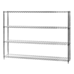"12""d x 72""w Wire Shelving with 4 Shelves"