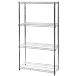 "14""d x 14""w Wire Shelving with 4 Shelves"