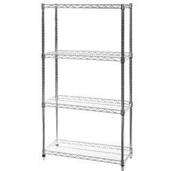 "14""d x 72""w Wire Shelving with 4 Shelves"