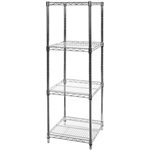 "18""d x 18""w Wire Shelving Racks 4 Shelves"