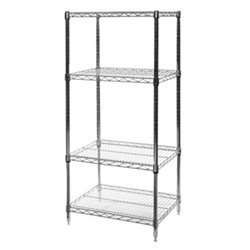 "18""d x 24""w Wire Shelving with 4 Shelves"