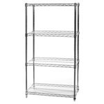 "18""d x 30""w Wire Shelving with 4 Shelves"