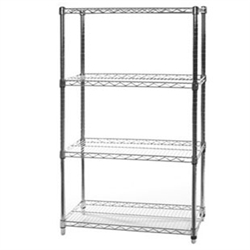 "18""d x 36""w Wire Shelving with 4 Shelves"