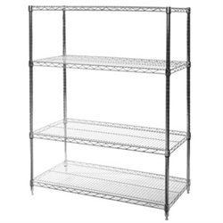 "18""d x 42""w Wire Shelving with 4 Shelves"