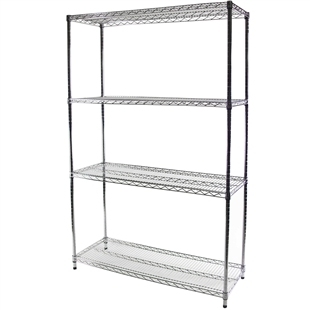 "18""d x 48""w Wire Shelving with 4 Shelves"