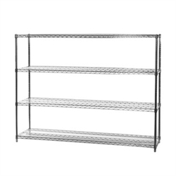 "18""d x 60""w Wire Shelving with 4 Shelves"