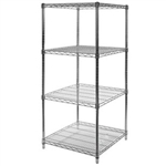 "24""d x 24""w Wire Shelving with 4 Shelves"