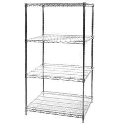 "24""d x 30""w Wire Shelving with 4 Shelves"